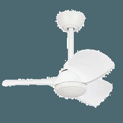 Ventilatore da soffitto, Margaritta, DC, 71cm, bianco, con luce, per stanze di piccole dimensioni, + telecomando, Lba Home.