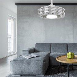 Ventilatore da soffitto senza pale, Uffo, 55cm, efficiente, DC, bianco, Lba home.