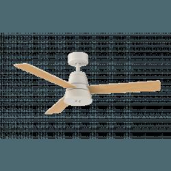 Ventilatore da soffitto/umidificatore, Splash, 132m, DC, silenzioso, bianco/legno, Lba Home.