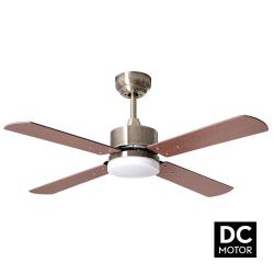 Ventilatore da soffitto, Sevilla Brass,  DC, 107cm, con luce LED, ottone/ noce/ ciliegio,  Lba Home.