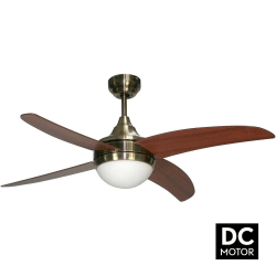 Ventilatore da soffitto,  Artus DC Cherry, DC, 116cm, pale ciliegio, con luce, telecomando, Lba Home.