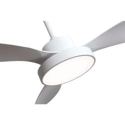 Ventilatore da soffitto, White wind, 120cm,  bianco, con luce, moderno, Lba Home.