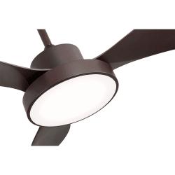 Ventilatore da soffitto, Brown Wind, 120cm, marrone , con luce, moderno, Lba Home.