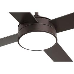 Ventilatore da soffitto, Tube Brown,  132 cm, marrone/ faggio, con luce LED, telecomando, Lba Home.
