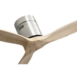 Ventilatore da soffitto, Short Slide Wood, DC, 132 cm, DC, moderno, corpo niquel/pale faggio, Lba Home.