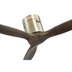 Ventilatore da soffitto, Short Brass, DC, 132 cm, DC, moderno, corpo ottone/rovere,  Lba Home.