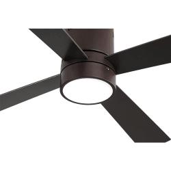 Ventilatore da soffitto, Twist Lt Brown ,  122 cm, corpo marrone/pale marroni e faggio, con luce LED, telecomando, Lba Home.