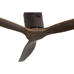 Ventilatore da soffitto, Short Brown, DC, 132 cm, DC, moderno, corpo marrone scuro/rovere, Lba Home