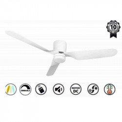Ventilatore da soffitto, Low profile Blanc, 132cm, design, per soffitti...