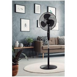 Ventilatore a piantana,  Inverna , 40W, nero, con telecomando + timer, Lba Home