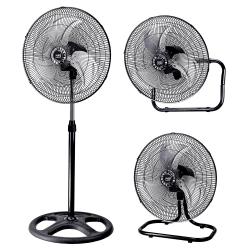 Ventilatore 3 in 1, Maloja, nº 3 unitá, 70 W, metallo nero/ cromato, Lba Home.