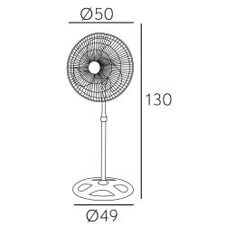 Ventilatore 3 in 1, Maloja, nº 5 unitá, 70 W, metallo nero/ cromato, Lba Home.
