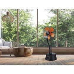 Ventilatore nebulizzatore, Misty10 , ø 46 cm, nero e arancione, con telecomando, Purline.
