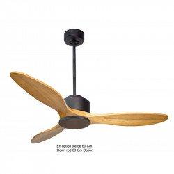 Ventilatore da soffitto, Modulo, 132 cm, DC, legno chiaro/grigio basalto, destratificatore, +termostato e wifi, Klasssfan