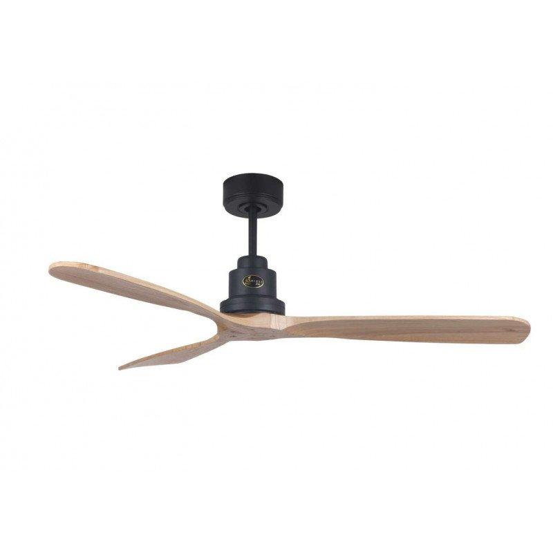 Ventilatore da soffitto, Lanzarote BK SW, 132 cm, DC, grigio basalto/legno chiaro, telecomando e Wifi, Klassfan