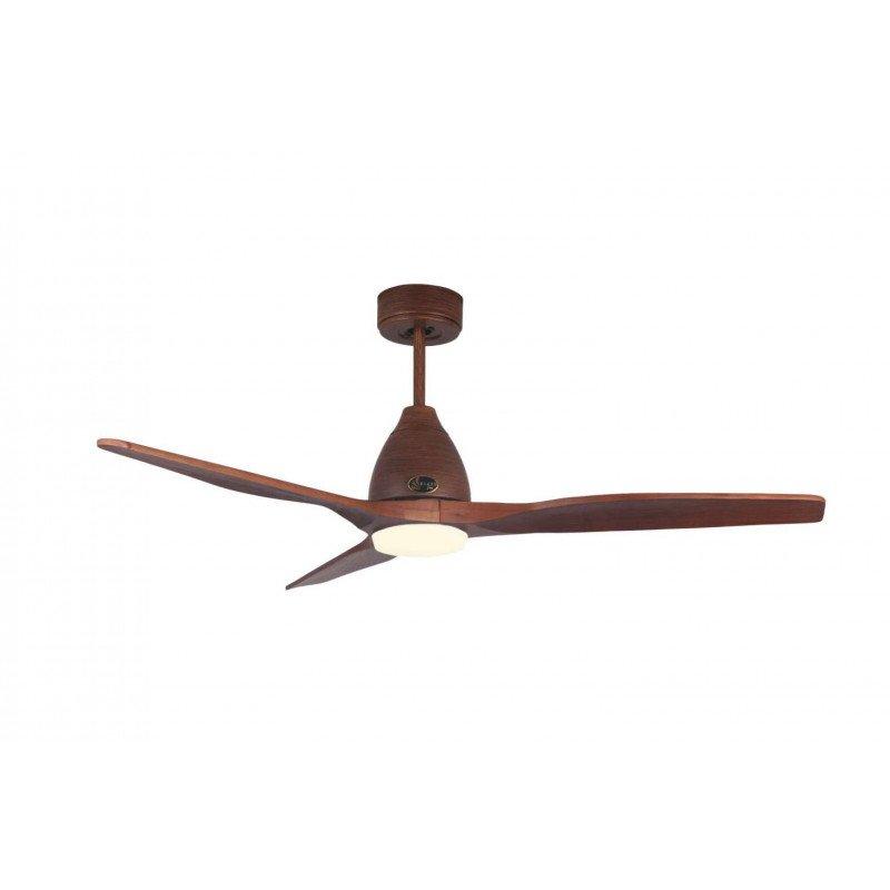 Ventilatore da soffitto, Moverick , 132 cm, moderno, legno dipinto a mano, con luce LED, wifi, termostato, KlassFan