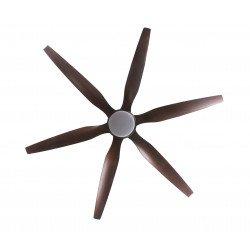 Ventilatore da soffitto destratificatore, Hurikane, 166cm, DC, pale abs rifinite in legno, LED, wifi, termostato,Klassfan
