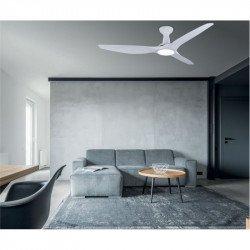 Ventilatore da soffitto, Kookai II, 132cm, DC, bianco, LED, wifi, termostato, silenzioso, Klassfan