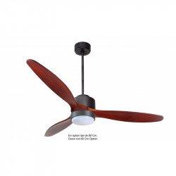 Ventilatore da soffitto-destratificatore, Modulo, 166cm, grigio basalto/ legno, termostato e wifi, luce LED, Klassfan