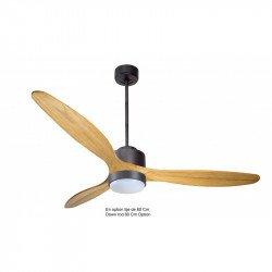 Ventilatore da soffitto-destratificatore, Modulo, 166 cm, motore DC, pale legno chiaro, termostato, wifi, LED, Klassfan