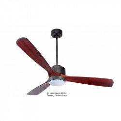 Ventilatore da soffitto-destratificatore,  Modulo166cm, grigio basalto/ legno scuro, termostato, wifi, LED, Klassfan