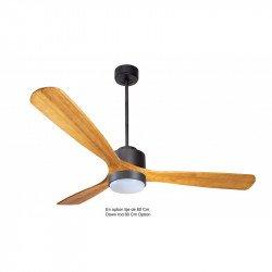 Ventilatore da soffitto-destratificatore, Modulo, 166 cm, DC, grigio basalto/legno chiaro, termostato, wifi, LED, Klassfan