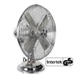 Ventilatore da tavolo, Tradition TV 30 II, 30cm, cromato, classico e...