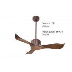 Ventilatore da soffitto, Modulo, 106cm, marrone, destratificatore, silenzioso,  wifi, termostato, Klassfan