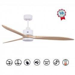Ventilatore da soffitto, super-destratificatore, Melton Lt, 166cm, DC,  legno massiccio, iper silenzioso, LED, wifi, klassfan