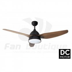 Ventilatore da soffitto, Bell Rustic DC, 132cm, con luce, coro marrone scuro/...