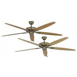 Ventilatore da soffitto, Classic Royal MA A/B, 180cm, ottone antico/acero/faggio, Casafan.