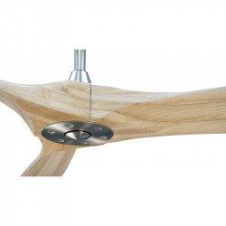 Ventilatore da soffitto  HVLS, Geronimo BK-SW , 223 Cm, DC, design, corpo nero, pale legno chiaro, termostato e wifi, Klassfan.