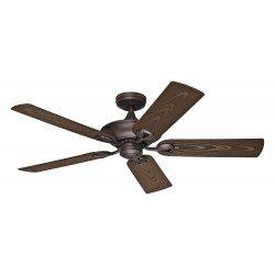 Ventilatore da soffitto, Maribel NBOD, 132cm, per esterni, marrone/noce, Ip x4, Hunter.