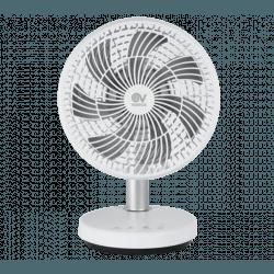 Ventilatore da tavolo, Nordik Mio, DC, Ø pale 200 mm, corpo bianco/ pale grigie, Vortice.