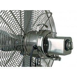 Ventilatore a piantana, Retro-Airstyle BN-NB, 36,9 cm, griglia cromo spazzolato, treppiede  legno simil noce, potente, Casafan