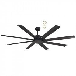Ventilatore da soffitto, Mini North Star Nero, 165 cm, industriale, DC, nero, Lba Home