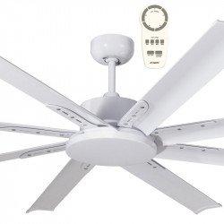 Ventilatore da soffitto, Mini North Star Bianco, 165 cm, industriale, DC, bianco, Lba Home