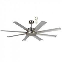 Ventilatore da soffitto, Mini North Star Cromo, 165 cm, industriale, DC, cromato, Lba Home