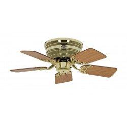 Ventilatore da soffitto, Classic Flat 75-III MP, Ø 79,2 cm, ottone lucido/rovere antico/faggio, Casafan.