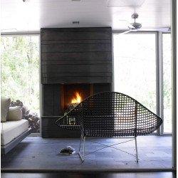 Ventilatore da soffitto, Altus, 132 cm, alluminio, grigio argento, reversibile, ideale per hotel/bar/caffetterie, Modern Fan.