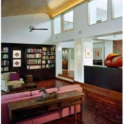 Ventilatore da soffitto, Altus, 106 cm, alluminio, grigio argento, reversibile, ideale per Hotel/bar/caffetterie, ModernFan.