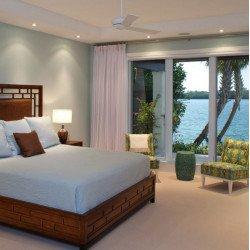 Ventilatore da soffitto, Altus, 106 cm, bianco lucido,pale acero, reversibile, ideale per hotel/bar/caffetterie, Modernfan
