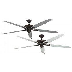 Ventilatore da soffitto, Classic Royal BA W/L, 180cm, marrone antico/bianco/grigio chiaro, Casafan