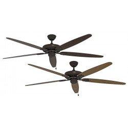 Ventilatore da soffitto, Classic Royal BA E/N, 180cm, marrone antico/rovere/noce, Casafan.