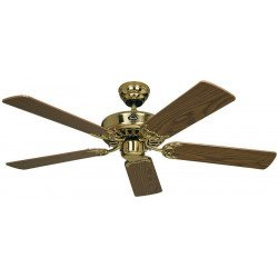 Ventilatore da soffitto, Classic Royal 132 MP, 132cm, ottone lucido/rovere antico/ quercia, Casafan