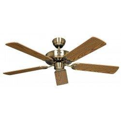 Ventilatore a soffitto, Classic Royal MA, 132 cm, Ottone antico / quercia, Casafan