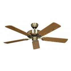 Ventilatore da soffitto, Classic Royal 103 MA, 103cm, ottone antico/ quercia, Casafan.