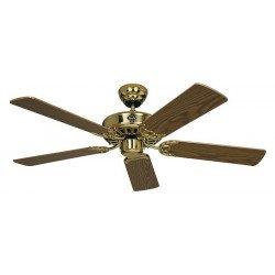 Ventilateur de plafond, Royal MP, classic 103 Cm, Laiton poli, pales chêne, CASAFAN