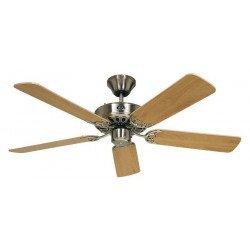 Ventilatore da soffitto, Classic Royal 103 BN, 103cm, cromo/faggio, Casafan.