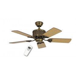 Ventilatore da soffitto, Eco Elements 103 MA, 103cm, DC, ottone antico/faggio/quercia antica, Casafan